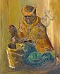 Durant Basi Sihlali (South African, 1935-2004) Woman grinding meal, Durant Basi Sihlali, Click for value