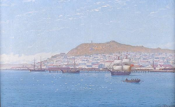 Grigorii Odysseevich Kalmykov (Russian, 1873-1942) Black Sea port