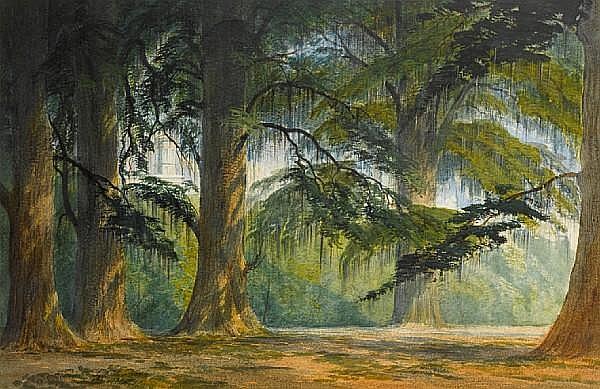 Anthony Carey Stannus (Irish, 1830-1919) Chapultepec Park, Mexico City
