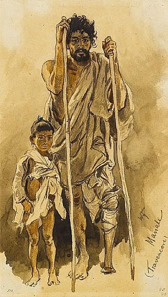 Woldemar Friedrich (German, 1846-1910) 'Manale (Travencore)' unframed