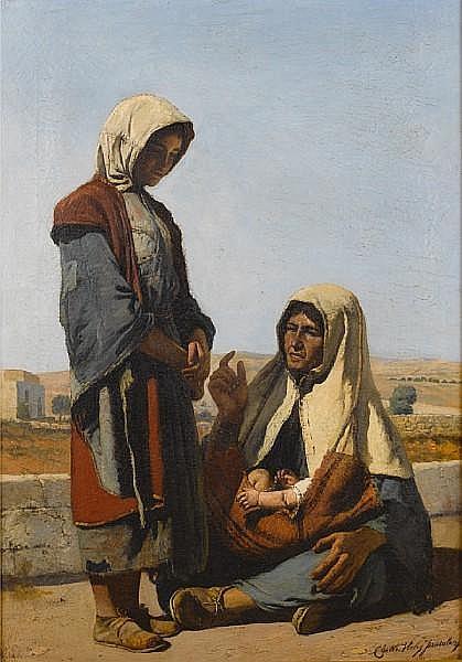 Michel Marie Charles Verlat (Belgian, 1824-1890) Jerusalem