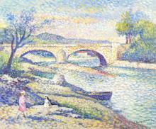 Lucien Neuquelman (French, 1909-1988) 'Bords de l'Allier'