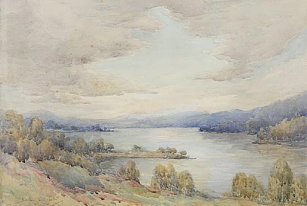 Henry Jackson Simpson, MC (British, 1893-1963) Loch scene