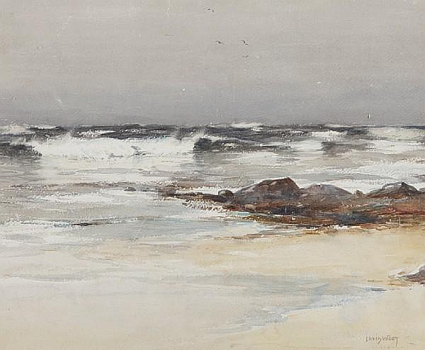 David West, RSW (British, 1868-1936) Sand and surf
