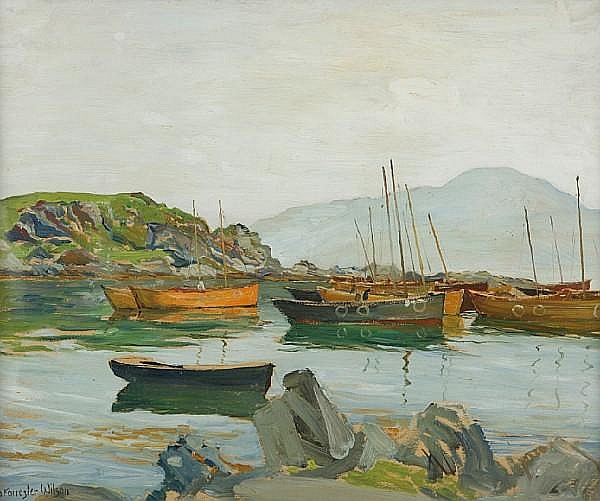 David Forrester Wilson, RSA (British, 1873-1950) Natural harbour, west coast