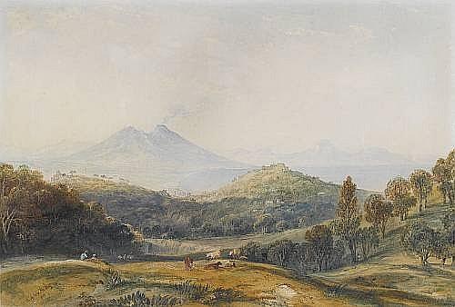 Anthony Vandyke Copley-Fielding, P.O.W.S. (British 1787-1855) The Bay of Naples