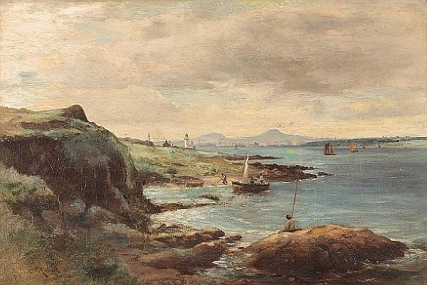 James Scott Kinnear (British, active 1858-1917) Dundee from Tayport