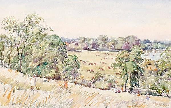 Llewellyn Petley Jones (British, 1908-1986) Petersham Meadows