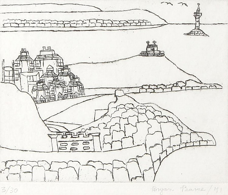 Bryan Pearce (British, 1929-2007) St Ives Etching, 1971, on wove, signed, dated and numbered 3/30 in pencil, 120 x 150mm (4 3/4 x 5 7/8in)(PL)