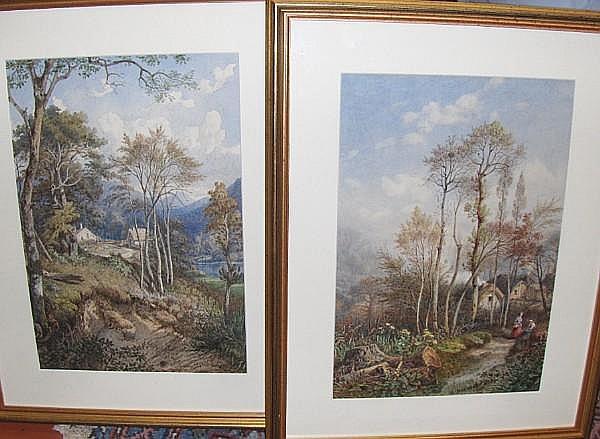 Michel Bouquet (French, 1801-1890) Woodland scenes