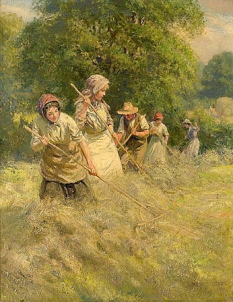 Roland Wheelwright, RBA (British, 1870-1955) Haymaking