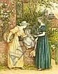 Kate Greenaway (British, 1846-1901) By the garden gate, Kate Greenaway, Click for value