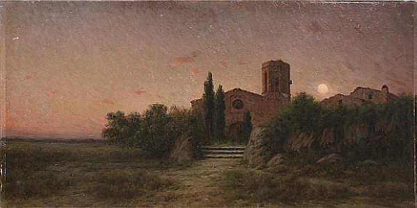 Modesto Urgell y Inglada (Spanish, 1839-1919) Toch d'oració