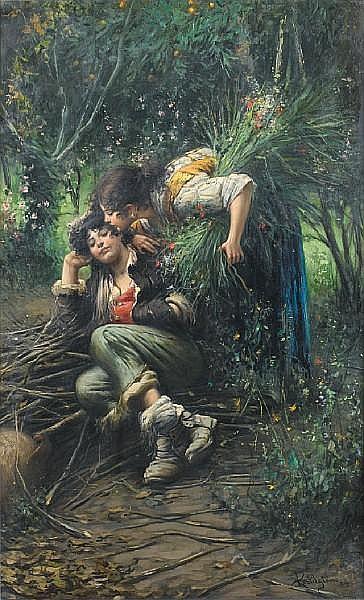 Luca Postiglione (Italian, 1876-1936) Sweet dreams