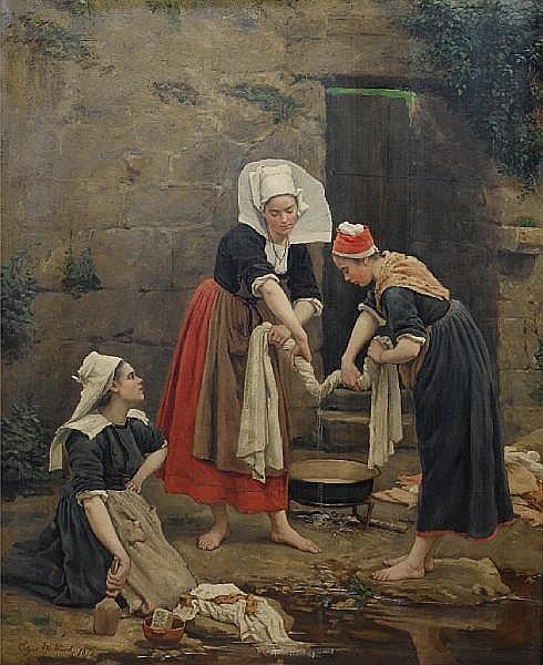 Edgar Melville Ward (American, 1839-1915) Washing day