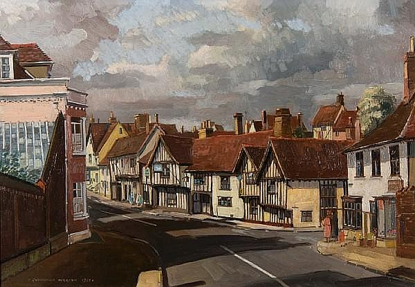 Cavendish Morton (British, born 1911) Lavenham high street,