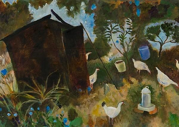 Tessa Newcomb (British, born 1955) 'Allotment No. 5'