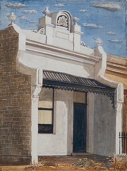 Helen Ogilvie (Australian, born 1902) 'Terraced House, Melbourne'