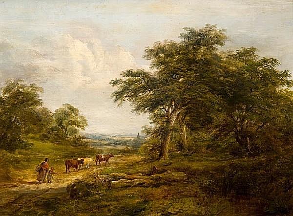 Robert Burrows (1819-1883) 'Scene near Monks Eley'
