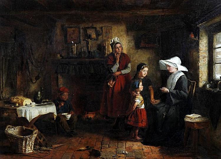 George Hardy (British, 1822-1909) 'La Soeur de Charite'