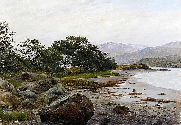 Alfred Feyen Perrin (British, 1860-1911) At Glan Conwy
