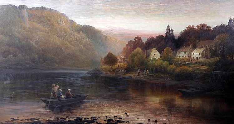 Frederick T. Sibley (British, active 1882-1903) 'Simon's Yat (On the Wye)'