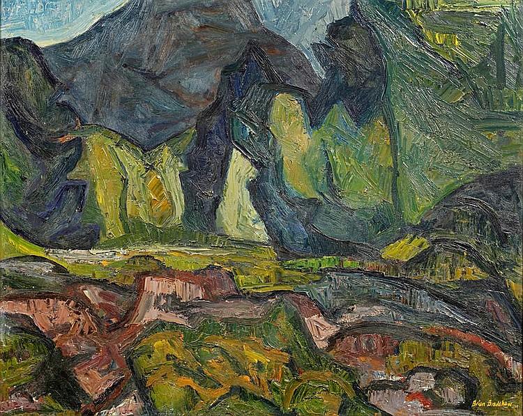 Brian Bradshaw (British, born 1923) Mountainous landscape