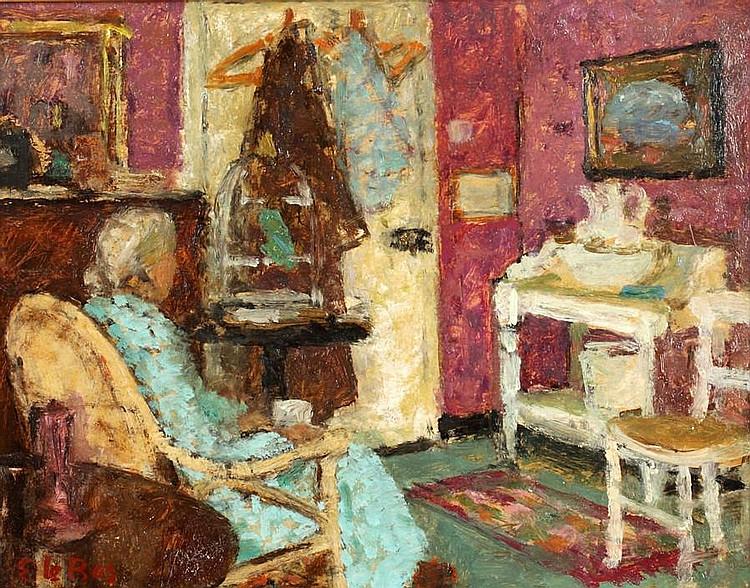 Edward le Bas (British, 1904-1966) Interior