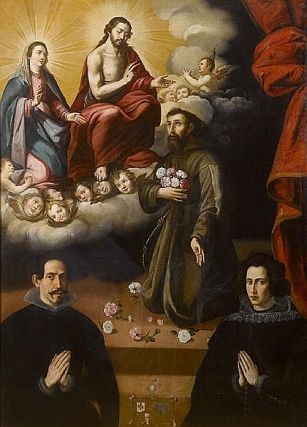 Juan del Castillo (Seville 1590 - 1657) and Workshop The Appearance of the Virgin and Christ to Saint Francis of Assisi