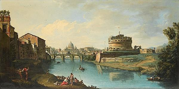 Andrea Locatelli (Rome 1693-circa 1741) View of the Tiber
