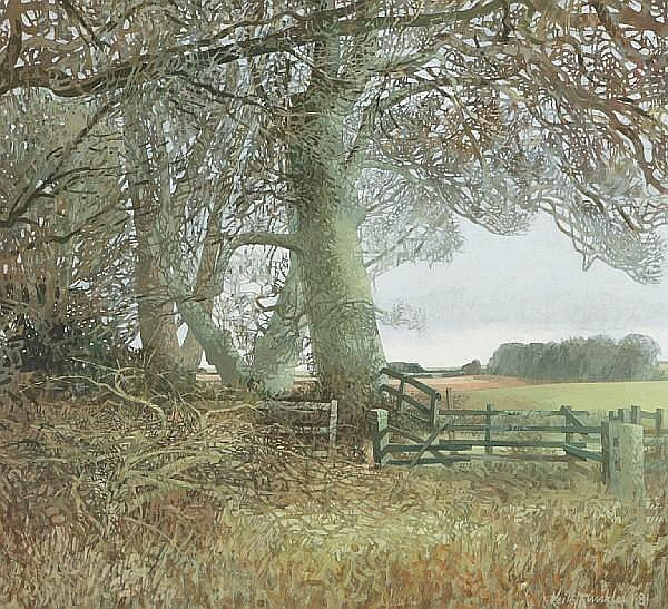 Keith Dunkley (British, 1942) Woodland Corner