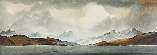Tom Shanks RSW RGI (British, 1921) 'Torridon Mountains'
