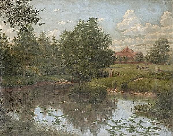 Boris Bessonof (Russian, 1862-1934) Rural idyll