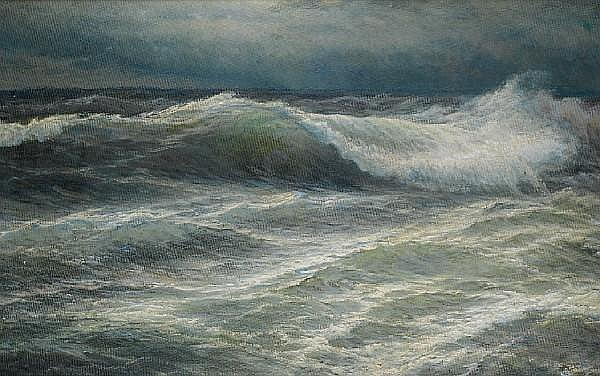 Wartan Mahokian (Armenian, 1869-1937) The wave