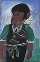 Gladys Mgudlandlu (South African, 1925-1979) The artist as a schoolgirl, Gladys Mgudlandlu, Click for value