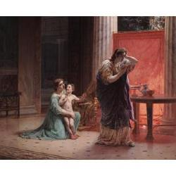 Feodor Andrejewitsch Bronnikoff (Russian, 1827-1902) A scene in ancient Rome 31 3/4 x 38 3/4in. (81 x 98.5cm.) in a carved Florentin...