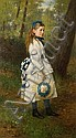 Sir George Reid (Scottish, 1841-1913) Girl in woodland, George (1841) Reid, Click for value
