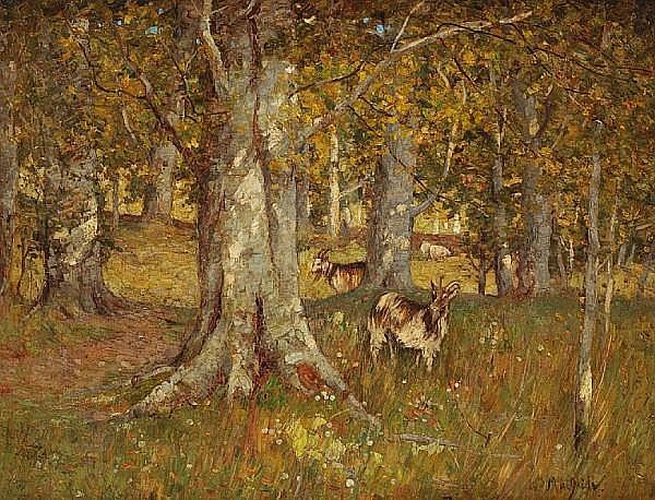 William MacBride (British, died 1915) In the woods