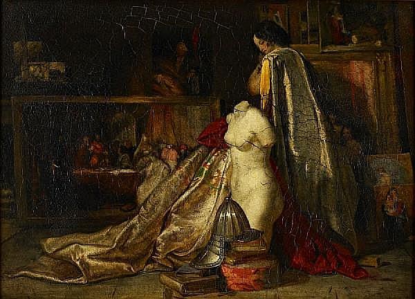 Robert Scott Lauder, RSA (Scottish, 1803-1869) The artist's studio in Rome