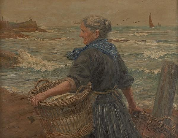 John McGhie (British, 1867-1952) 'The fishwife'