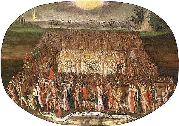 Circle of Antoine Caron (Beauvais 1520-1599 Paris) The Exodus of the Tribes of Israel