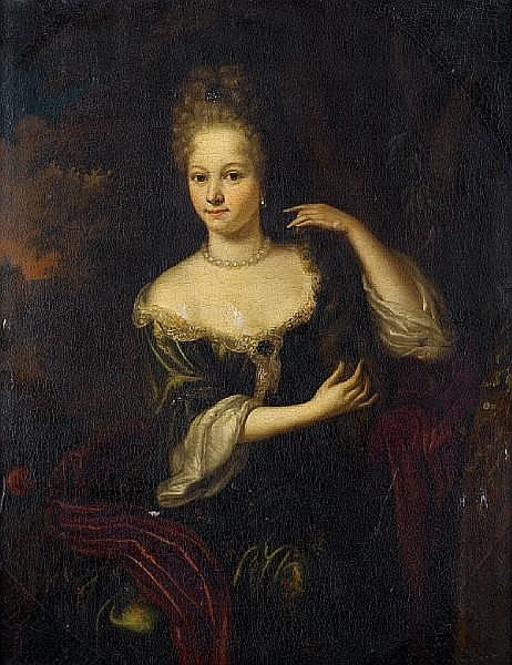 Attributed to Aleijda Wolfsen (Zwolle 1648-circa 1690) Portrait of a lady,