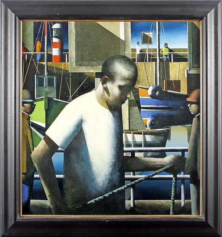 Stephen Mangan (British, 1964) Harbour Ropes