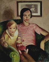 Guy Pène Du Bois (1884-1958) Mother, Daughter and Doll 36 1/8 x 29in (91.8 x 73.7cm)