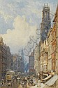 George Sidney Shepherd (British, 1784-1862) Fleet Street, London 45.5 x 29 cm. (17 3/4 x 11 1/2 in.), George Sidney Shepherd, Click for value
