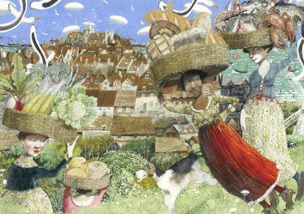 Richard Adams (British, born 1960) Providing the Town