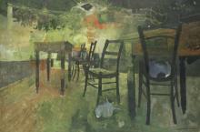 Leonard Rosoman O.B.E., R.A. (British, 1913-2012) Tavern Tables and Chairs