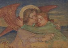 Phoebe Anna Traquair HRSA (1852-1936) Angels 13 x 18 cm. (5 1/8 x 7 1/16 in.)