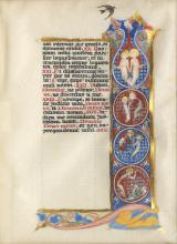 Phoebe Anna Traquair HRSA (1852-1936) Illumination of the Saints and text 18 x 13 cm. (7 1/16 x 5 1/8 in.)