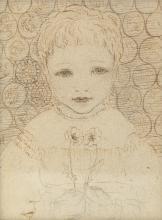 Phoebe Anna Traquair HRSA (1852-1936) Hilda Traquair, aged 3 10.2 x 7.7 cm. (4 x 3 1/16 in.)